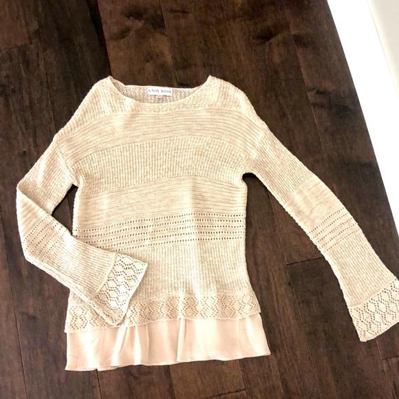 Knox rose cream sweater xs